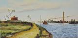 Twierdza Świnoujście - rekonstrukcja, olej, płótno, 50x100 cm, własność Fortu Anioła