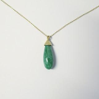 14K Jade Pendant Necklace