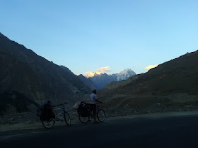 Getting dark on Karakorum Highway