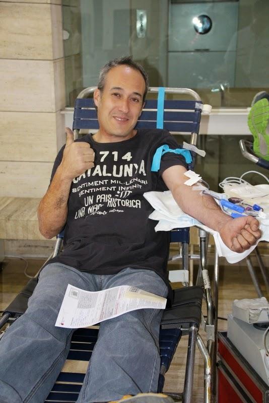Pilar i donació a la Marató de Donació de sang  24-09-14 - IMG_4522.JPG