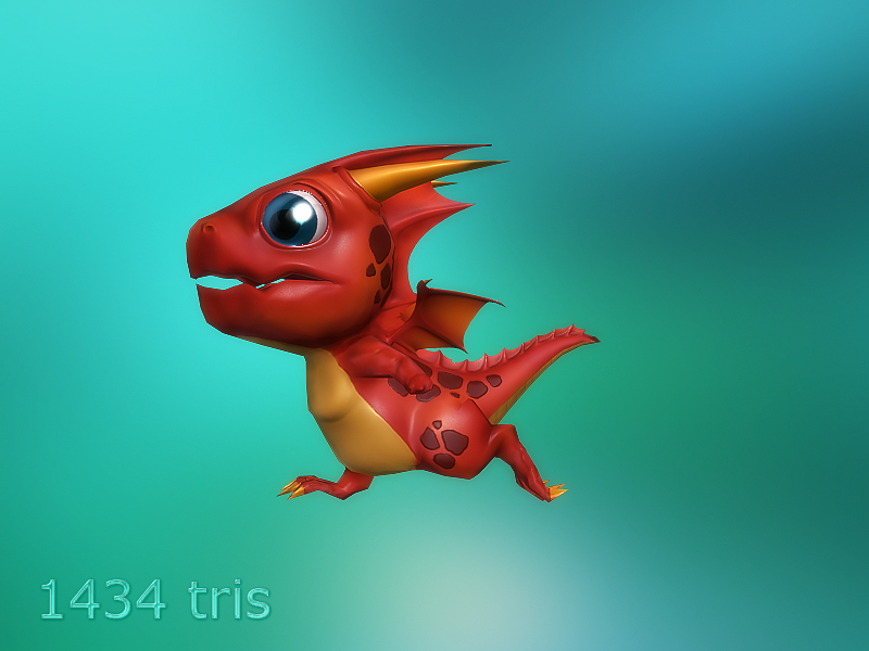 Lowpoly Toon Dragon and more - 50% off 03