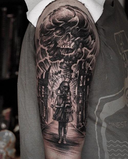 esta_brutal_braço_manga_tatuagem