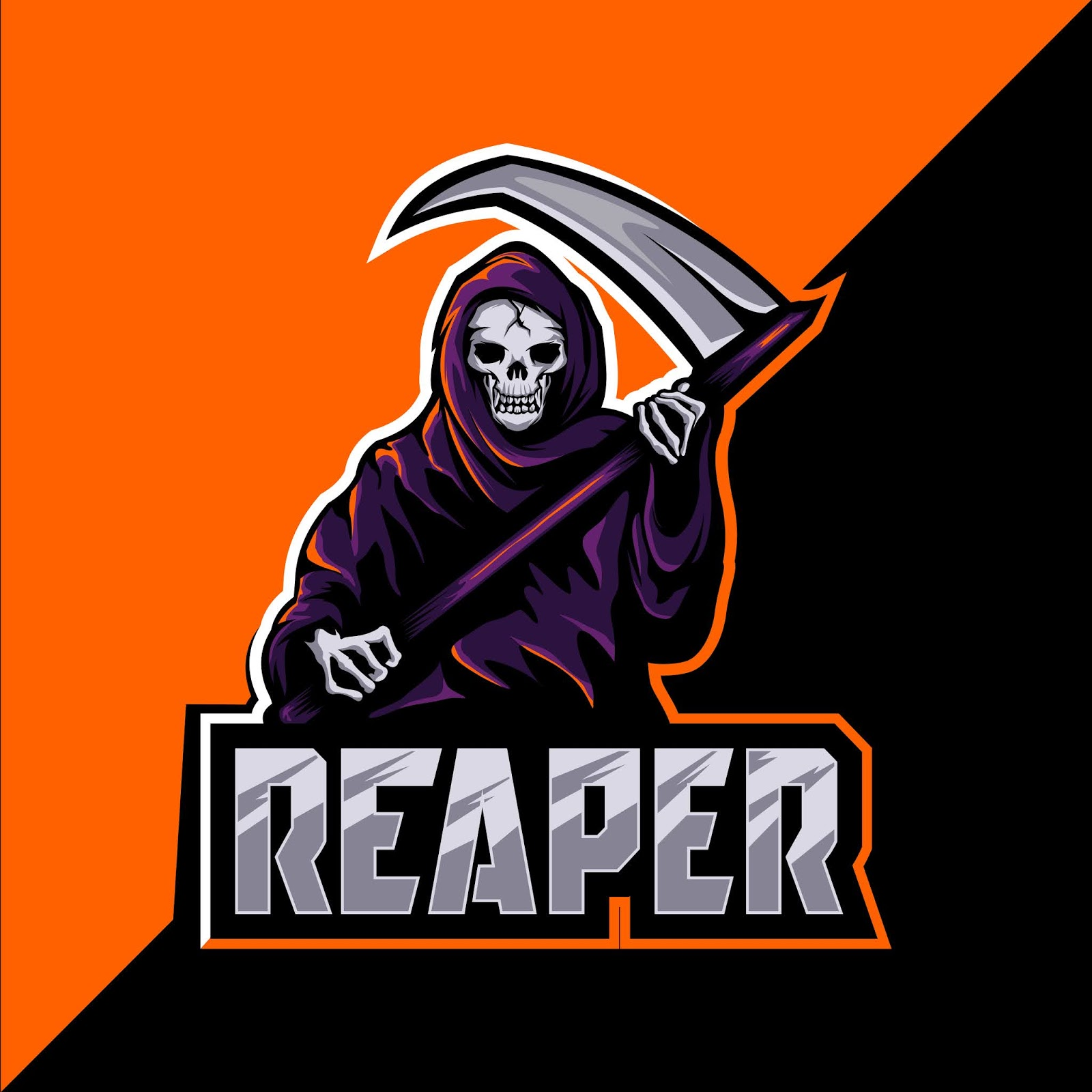 Reaper Skull Mascot Esport Logo Style Free Download Vector CDR, AI, EPS and PNG Formats