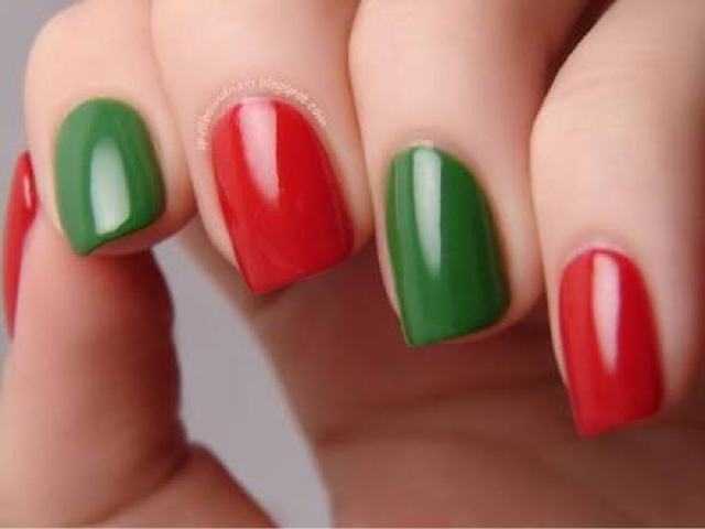 red green golden silver are all christmas colours so play with them and let your arty side take over i myself am goofy with painting my nails