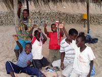 Bracelet salesmen - Tofo, Mozambique