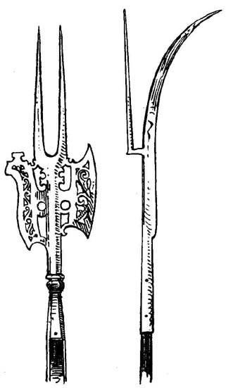 боевые вилы средневековье