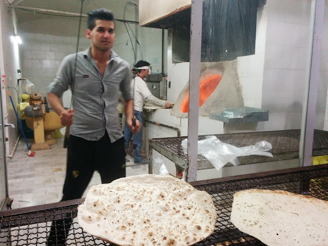 Action at an Iranian Bread Shop