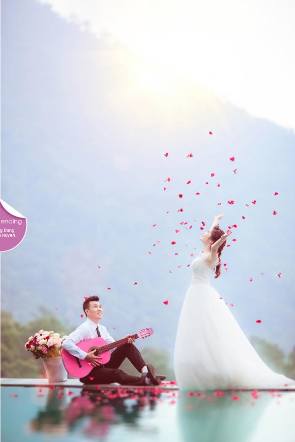 Ảnh cưới đẹp màu hồng