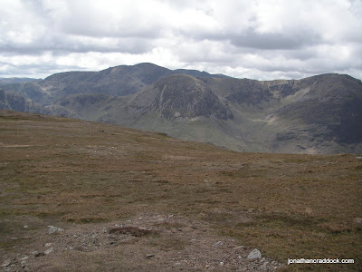 From below Robinson summit, looking towards High Crag and Pillar