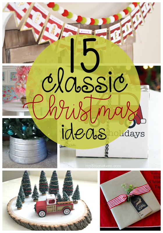 15 Classic Christmas Ideas at GingerSnapCrafts.com #Christmas #holiday #decor