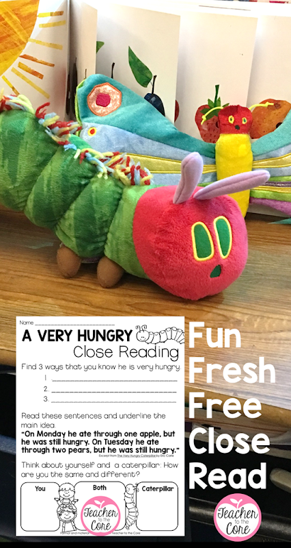 Free- Close Reading of Very Hungry Caterpillar Freebie