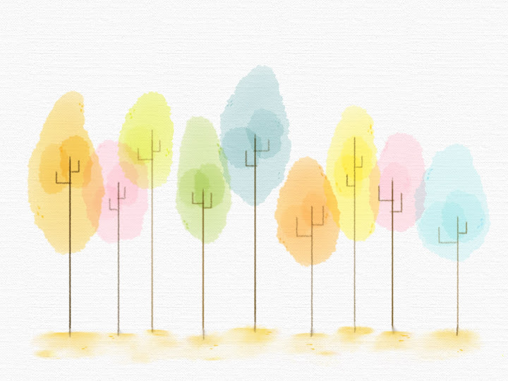 Color Forest made with Sketches