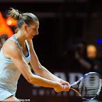 STUTTGART, GERMANY - APRIL 22 : Karolina Pliskova in action at the 2016 Porsche Tennis Grand Prix