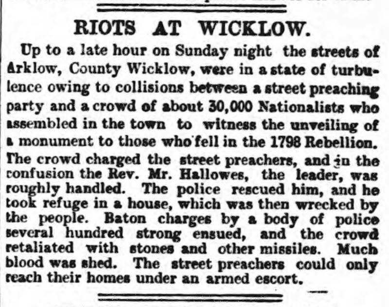 July 1903 Wicklow