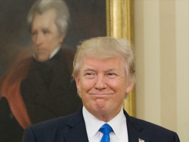 Donald Trump Andrew Jackson Jan 2017 Oval Office Getty 640x480