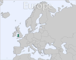 Wales location map