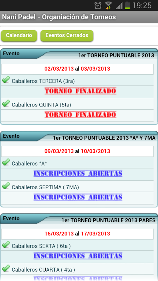 Circuito PowerARG Padel- screenshot