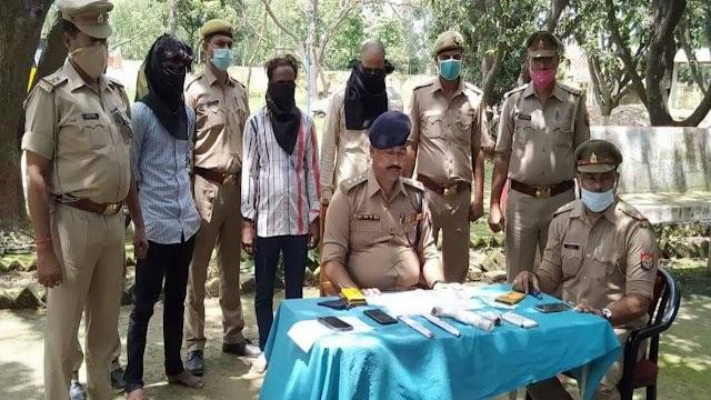 सिद्धार्थनगर:तीन शातिर चोरों को पुलिस ने दबोचा, कट्टा, कारतूस सहित माल बरामद