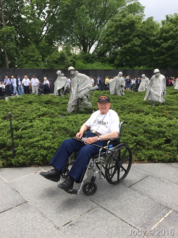 Dad at Korean War Memorial