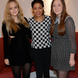 WWW.ENTSIMAGES.COM -    Georgia Sanders,  Dionne Bromfield and Georgia Edmonds    at the Benefit Boutique store Carnaby Street Jan 4th 2014                                                Photo Mobis Photos/OIC 0203 174 1069