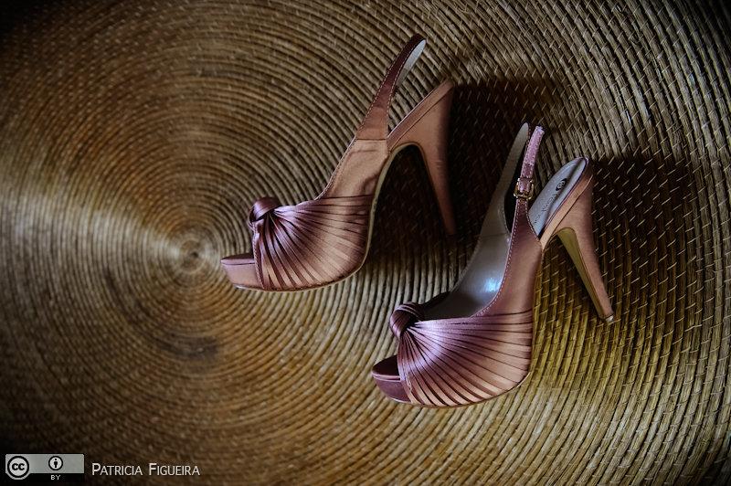 Foto de casamento 0038 de Valeria e Leonardo. Marcações: 27/11/2010, Casamento Valeria e Leonardo, Fai Shoes, Rio de Janeiro, Sapato.