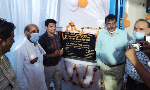 सांसद भानु प्रताप वर्मा ने समथर और गरौठा में किया ऑक्सीजन प्लांट का लोकार्पण