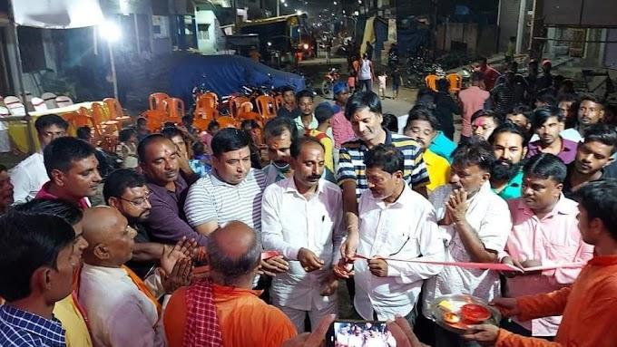 जयनगर में इंद्र पूजा का हुआ शुभारंभ, फीता काटकर किया गया उद्घाटन