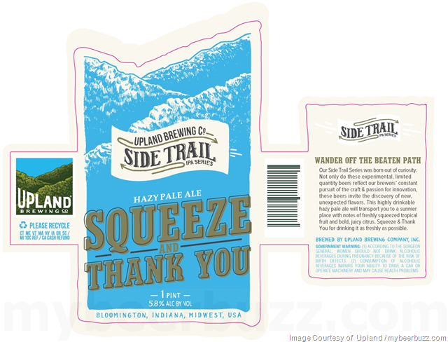 Upland Adding Squeeze And Thank You IPA Cans
