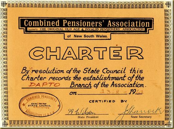 23 August 1962 CPSA Charter