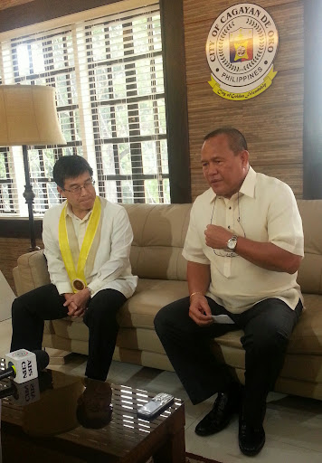 Oro mayor welcomes Japanes minister