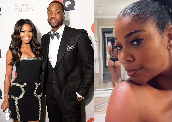 Dwyane Wade shares topless photo of wife Gabrielle Union with her backside on display, says 'This is 48'