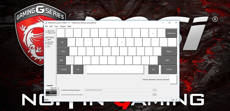 Keyboard Layout Creator