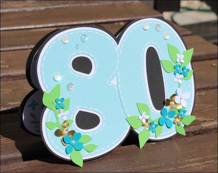 Einladung 80 Geburtstag Blumen 2