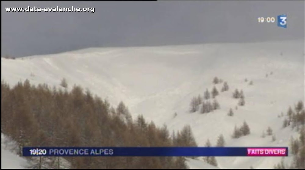 Avalanche Haut Verdon-Val d'Allos, secteur Le Signal, Vallon des Pounchus - Photo 1
