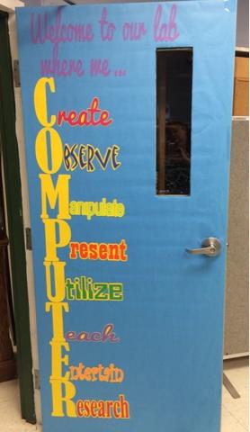 Computer Lab Door Or Bulletin Board