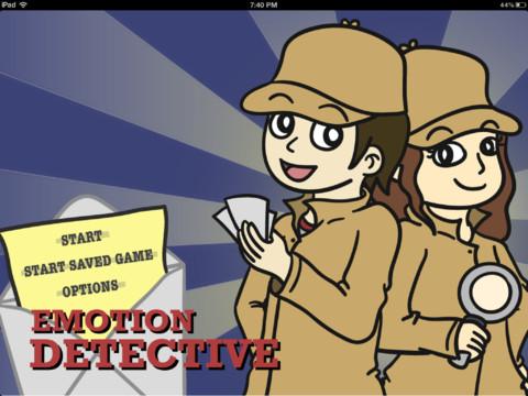 Emotion Detective Menu