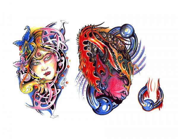 Design Of Magick Tattoo 16, Fantasy Tattoo Designs