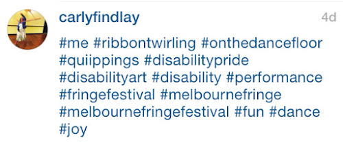 Carly Findlay instagram hashtag example