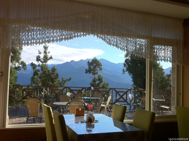 Mountain View at dining room of Misty Villa