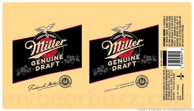 Miller Genuine Draft 12oz Cans Frederick Miller
