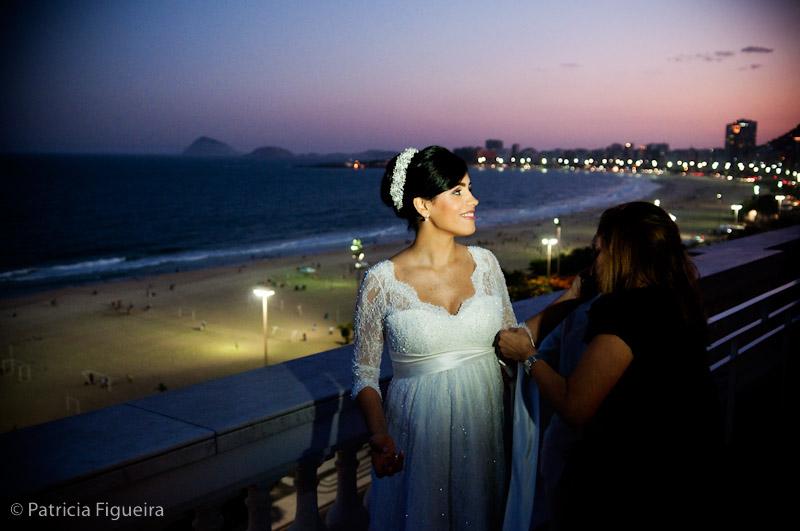 Foto de casamento 0237 de Marcella e Raimundo. Marcações: 15/08/2009, Casamento Marcella e Raimundo, Diversos, Paisagem, Praia de Copacabana, Rio de Janeiro.