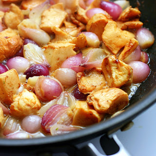 Silky Braised Chicken with Wild Mushrooms and Pearl Onions Recipe