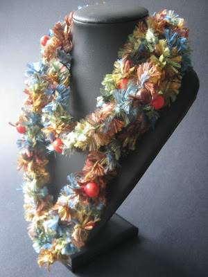 Beaded Crochet Scarf Necklace