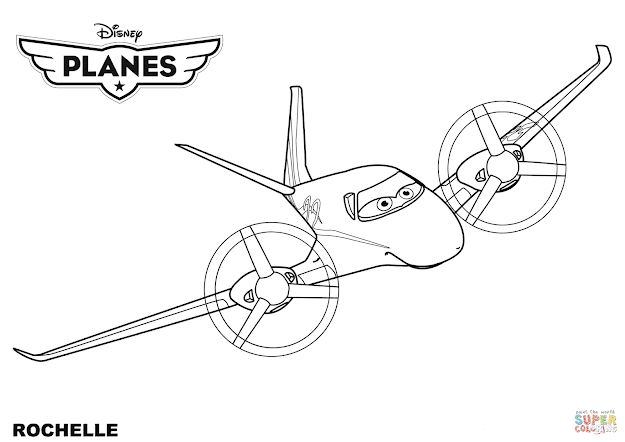 Click The Disney Planes Rochelle Coloring Pages