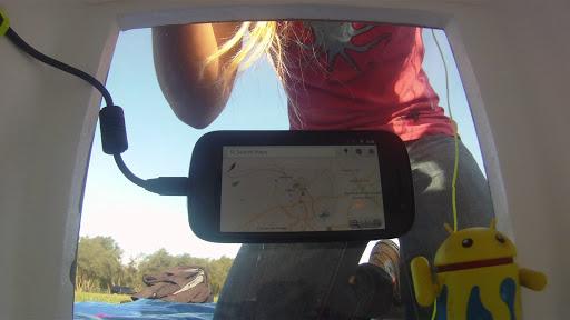 Nexus S running Google Maps for Mobile.