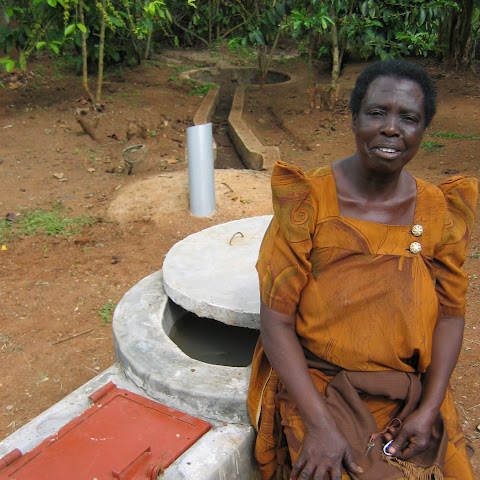 A bio-gas digester to give a cooking flame and a night light just by using cow manure (which can still be used afterwards)