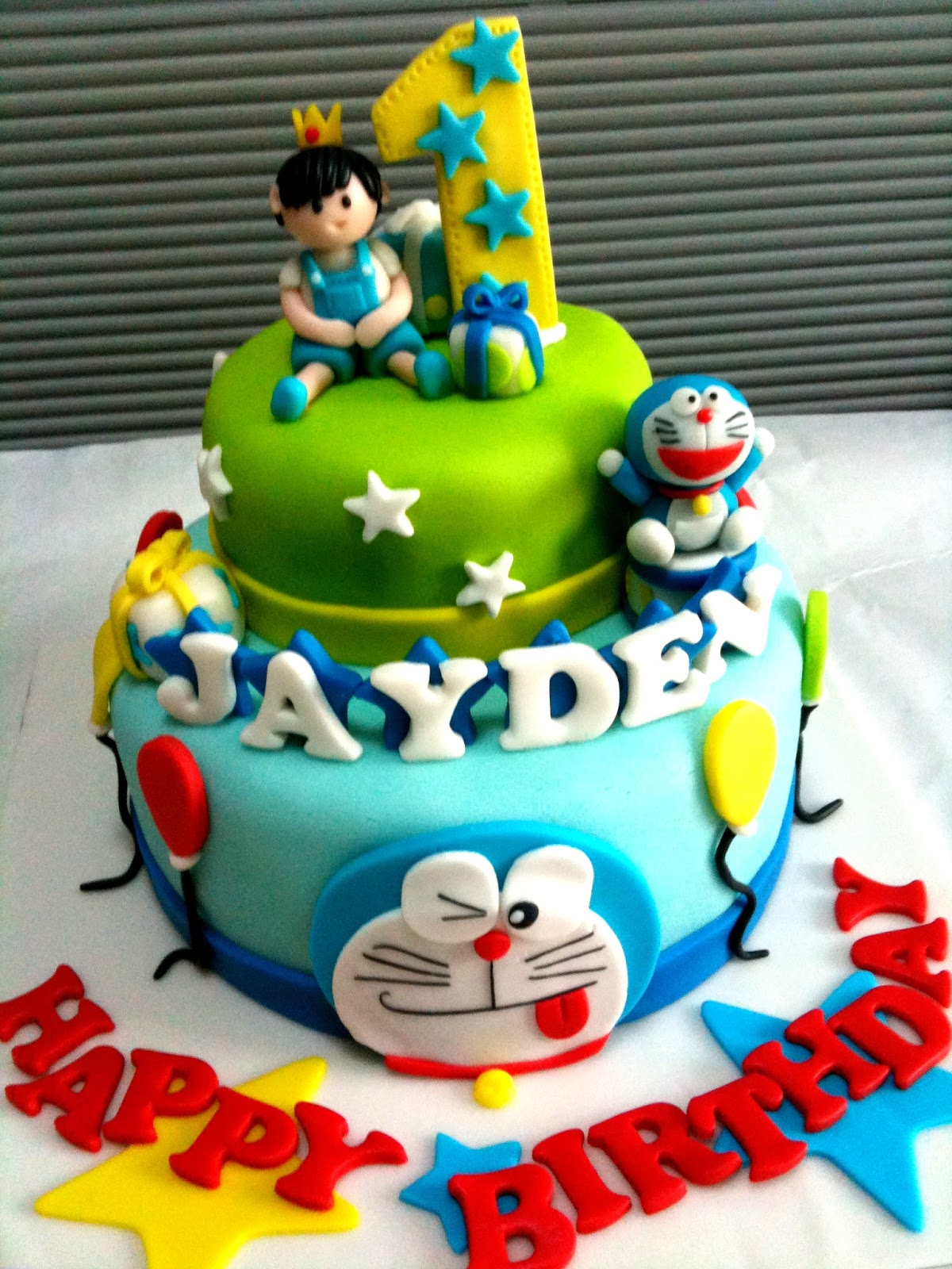 Doraemon Birthday Cake Design : Oven Creations: Happy 1st Birthday Jayden