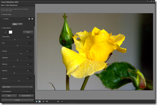 HDR File Created Screen & options
