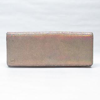 Gucci Metallic Leather Clutch Bag
