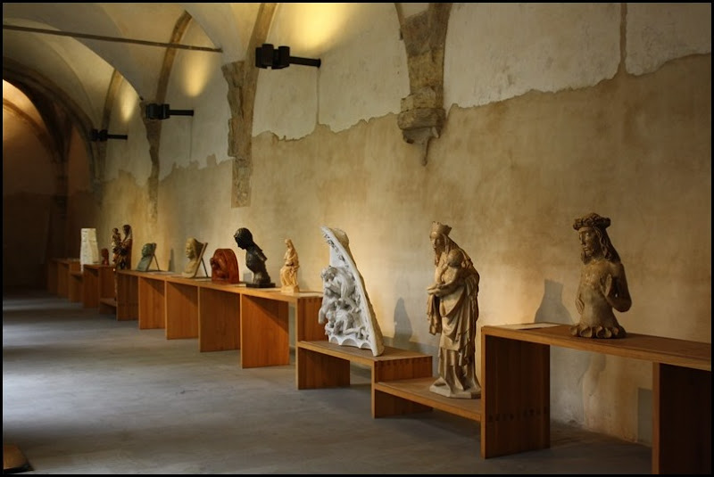 Statues on display at St Agnes of Bohemia